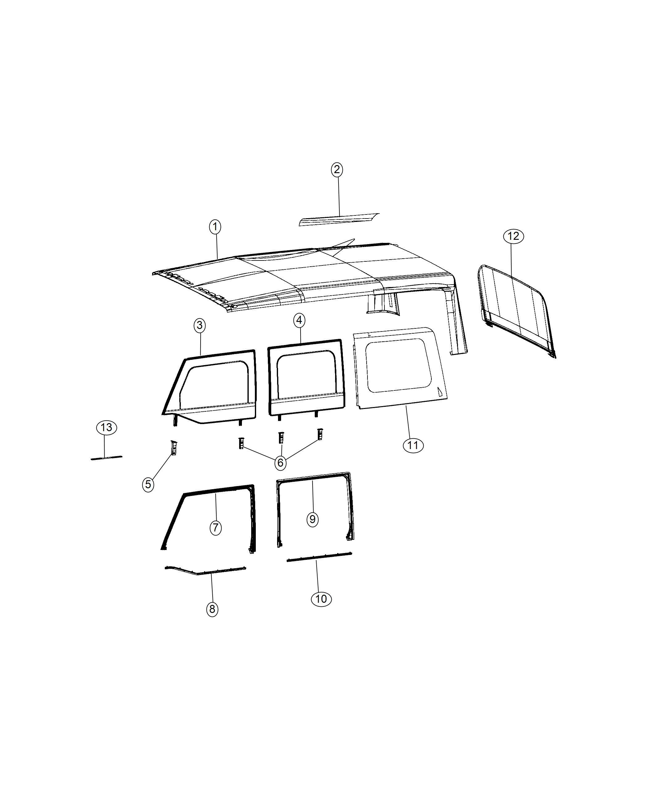 2009 Jeep Wrangler Unlimited Radio Wiring Diagram: Jeep Wrangler Window. Quarter. Left. Color: [no