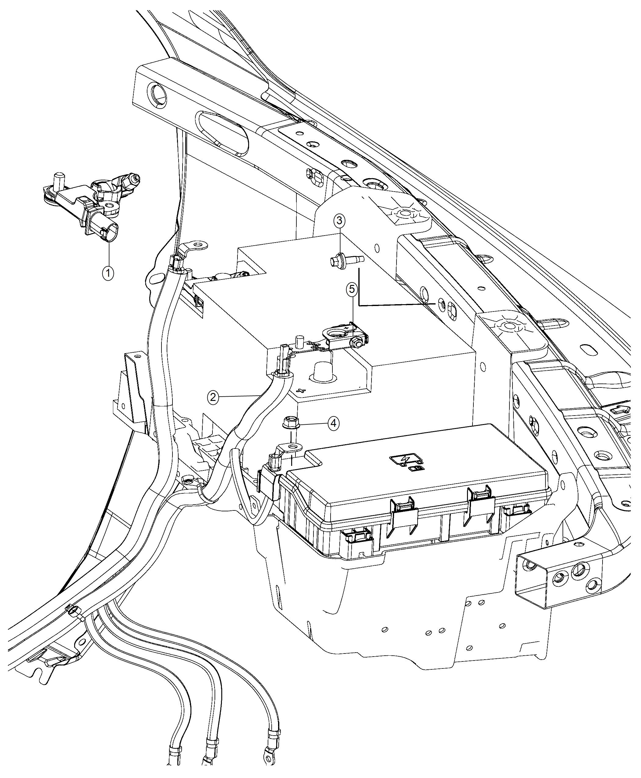 2018 Ram 4500 Terminal  Fusible Link  Battery