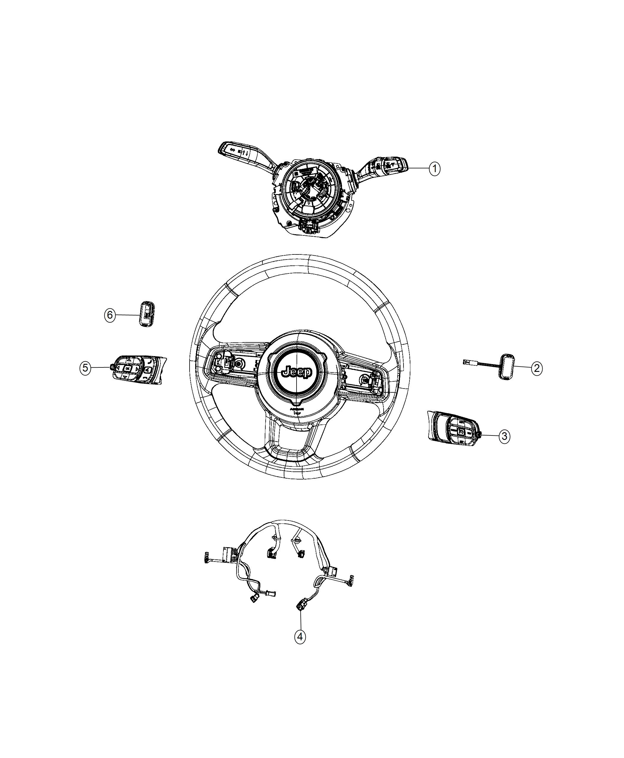 jeep wrangler module steering column export instrument. Black Bedroom Furniture Sets. Home Design Ideas