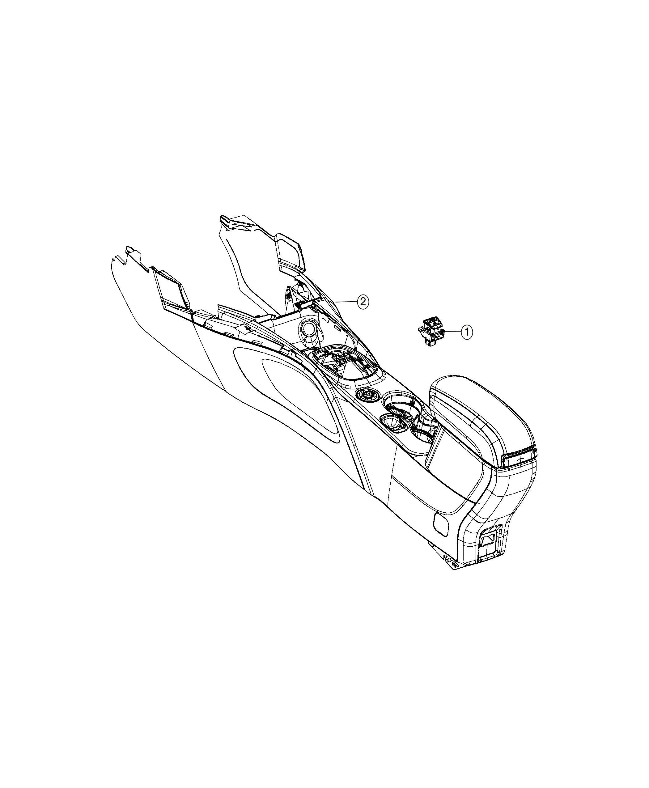 Fiat 500x Switch  Brake  Electric Park Brake  Canada