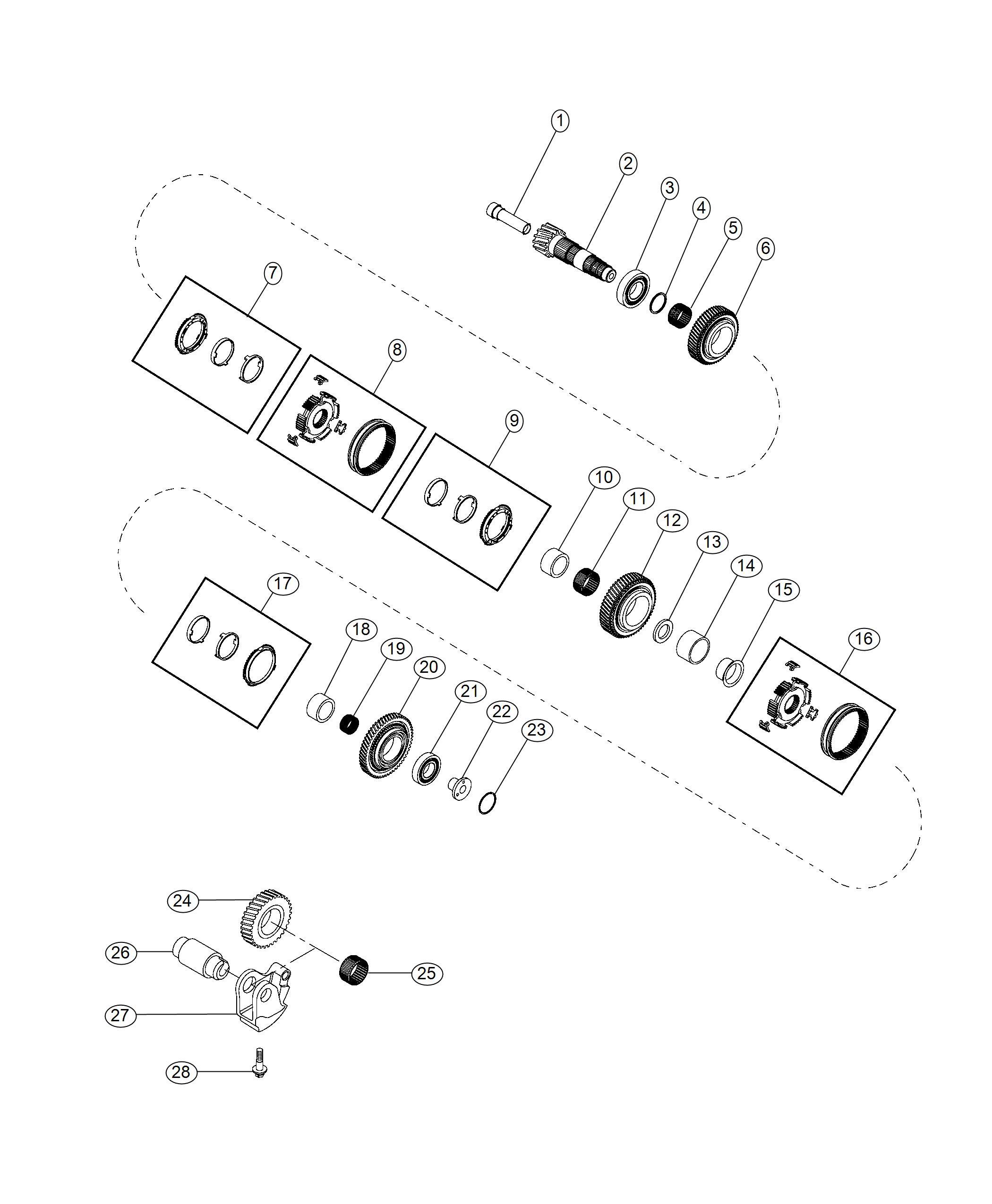 Fiat 500x Countershaft  Shaft  Transmission  Transmission