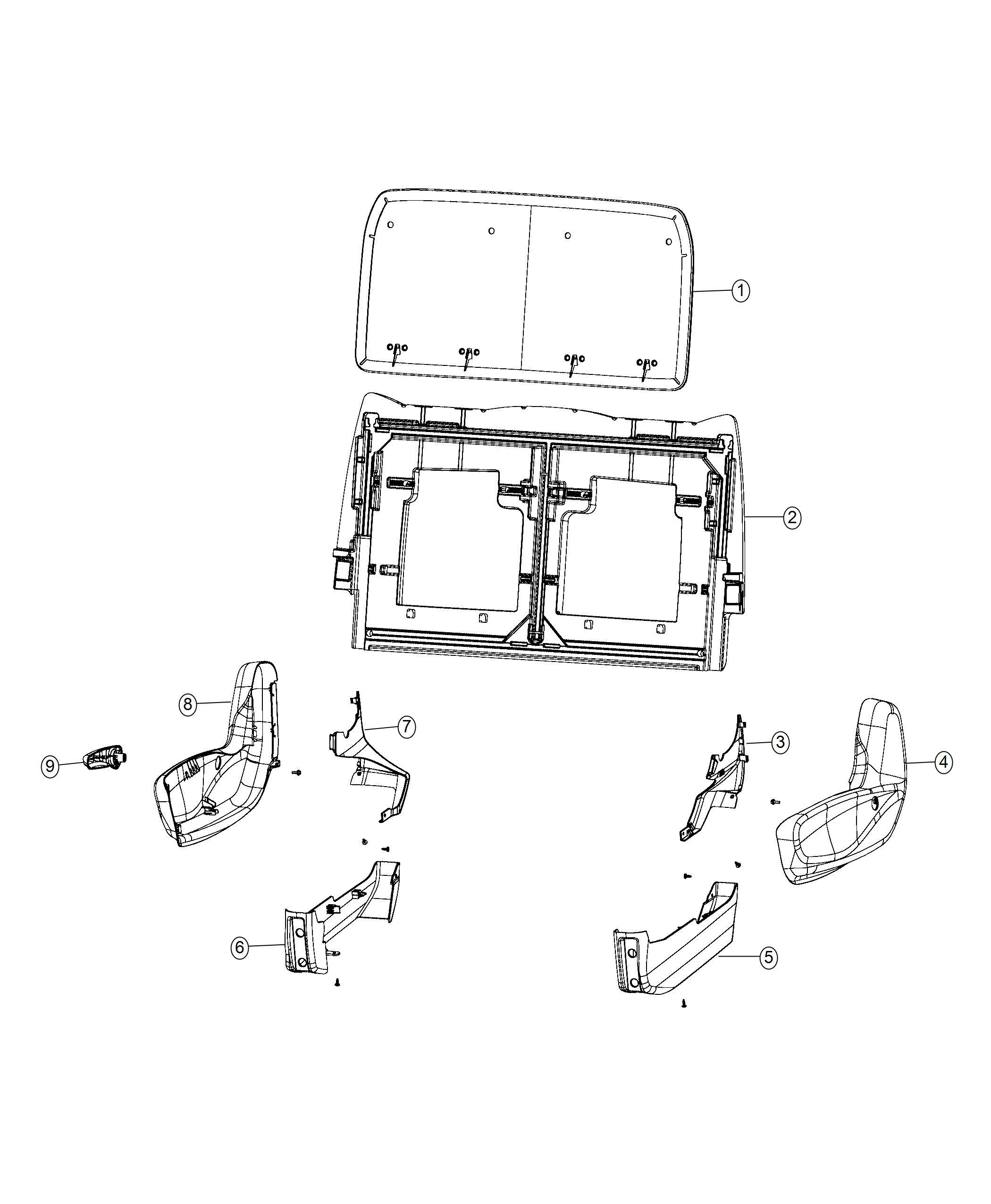 Chrysler Pacifica Shield. Rear Seat. Trim: [no Description