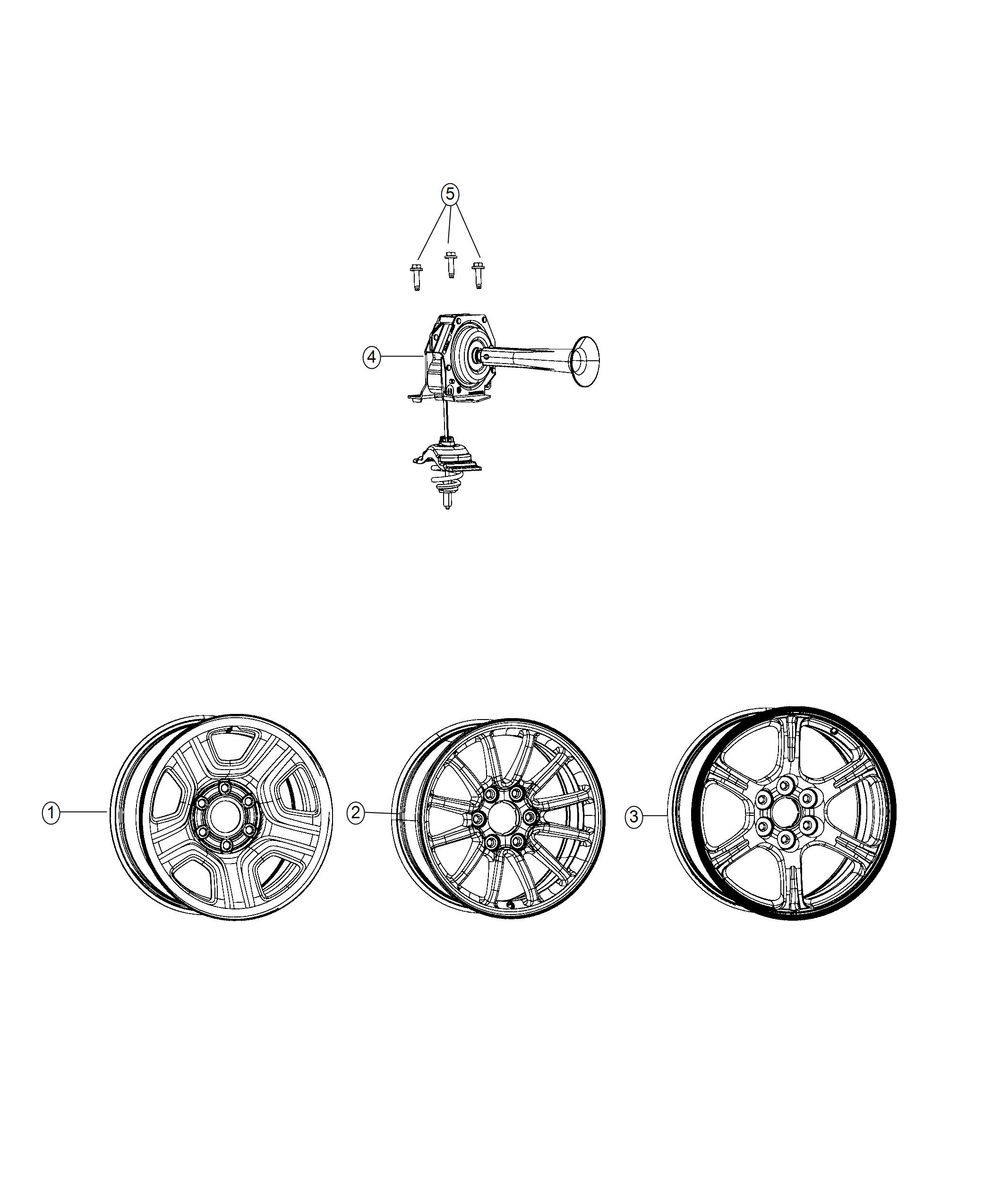 2019 Ram 1500 Wheel  Spare  Wheels