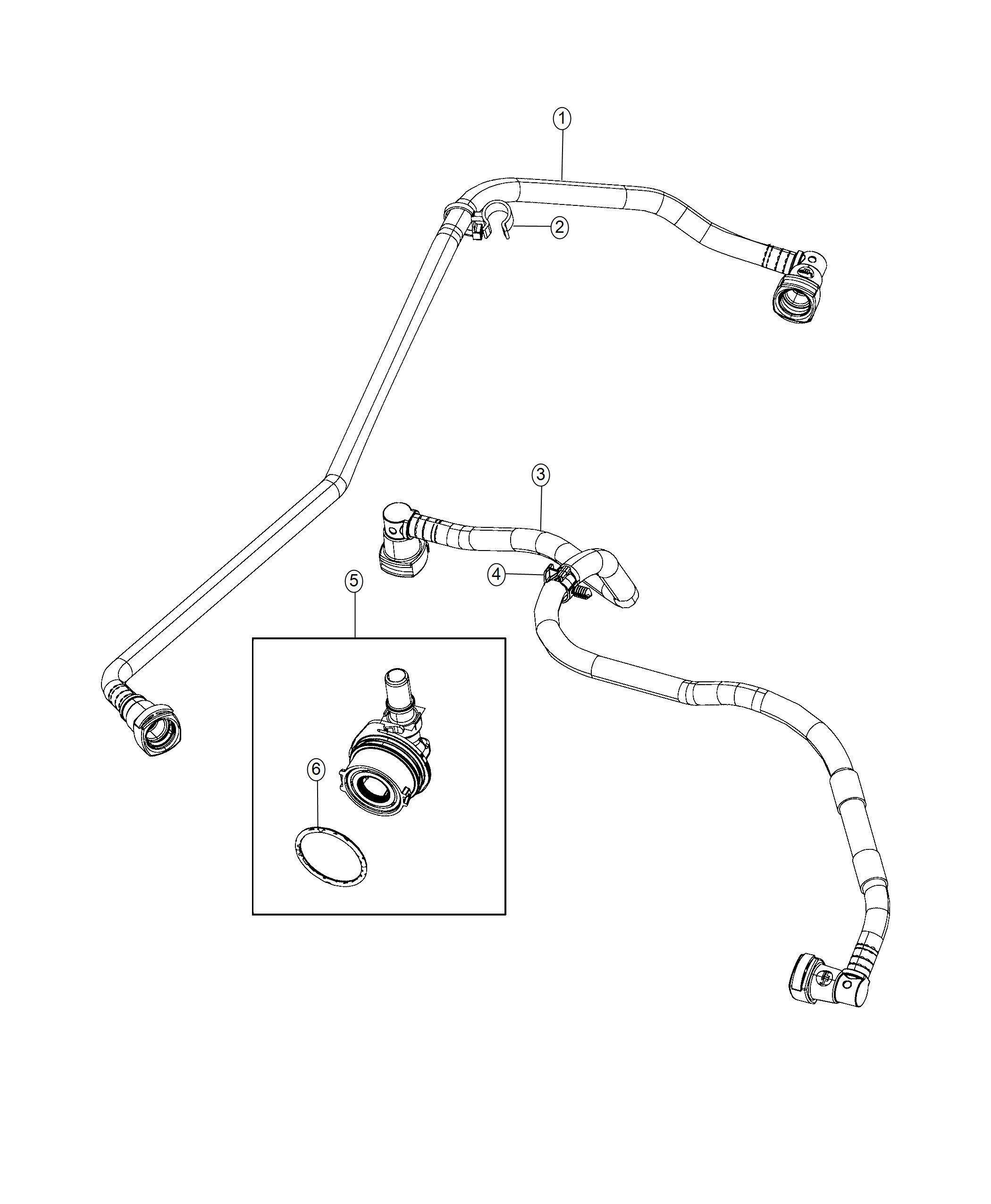 jeep wrangler o-ring  ventilation  crankcase