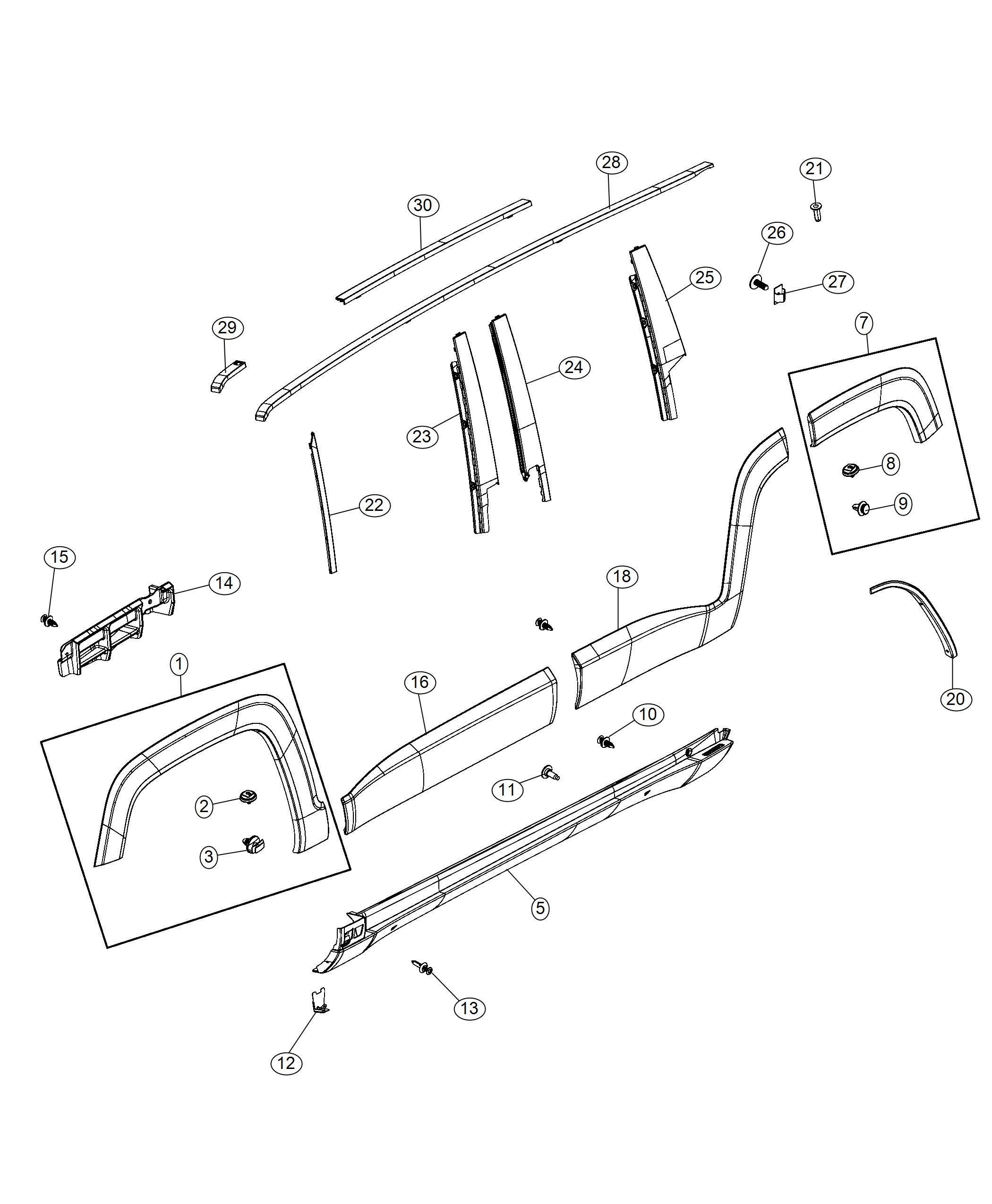 jeep renegade bracket  mounting  right  export  molding  sill  attaching