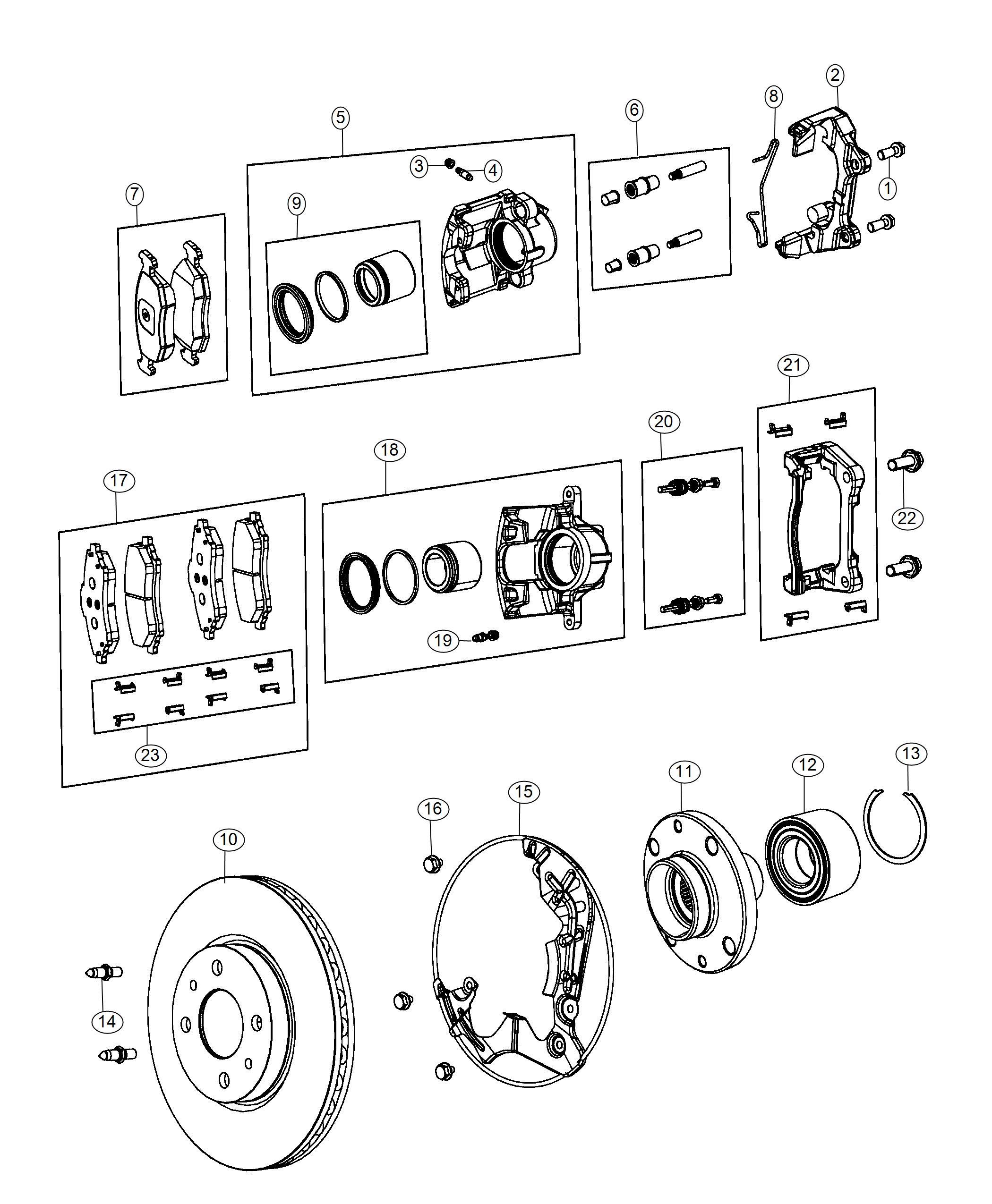 2018 fiat 500e caliper assembly  disc brake  front  right  brakes  wheel  brd