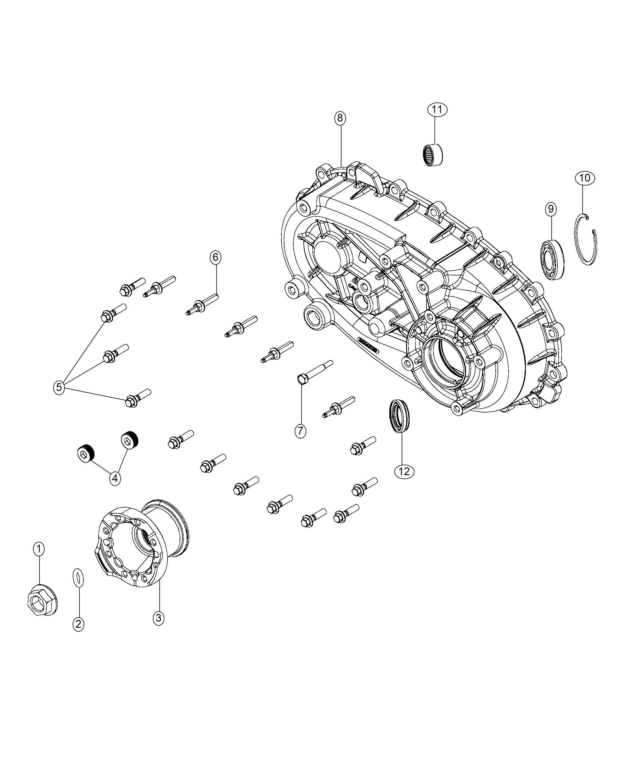 jeep wrangler flange  transfer case