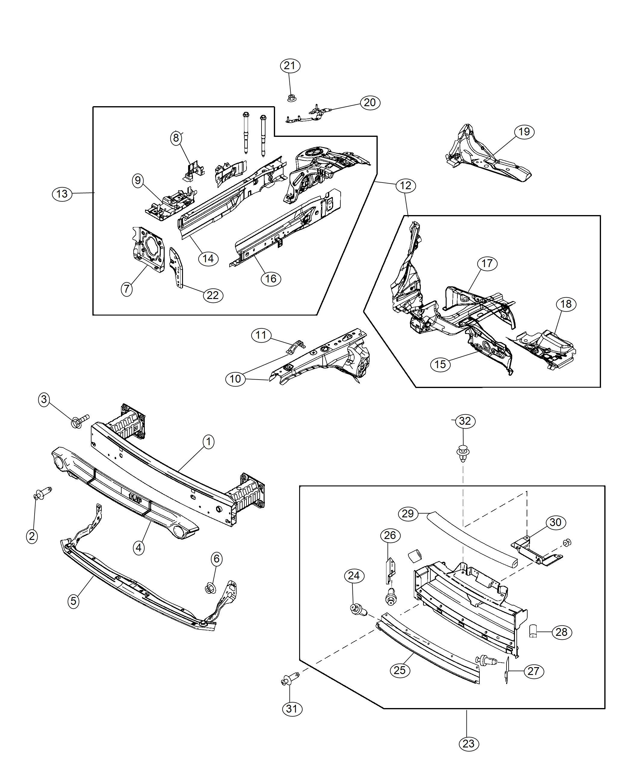 Fiat 124 Spider Reinforcement  Dash Lower  Right  Front