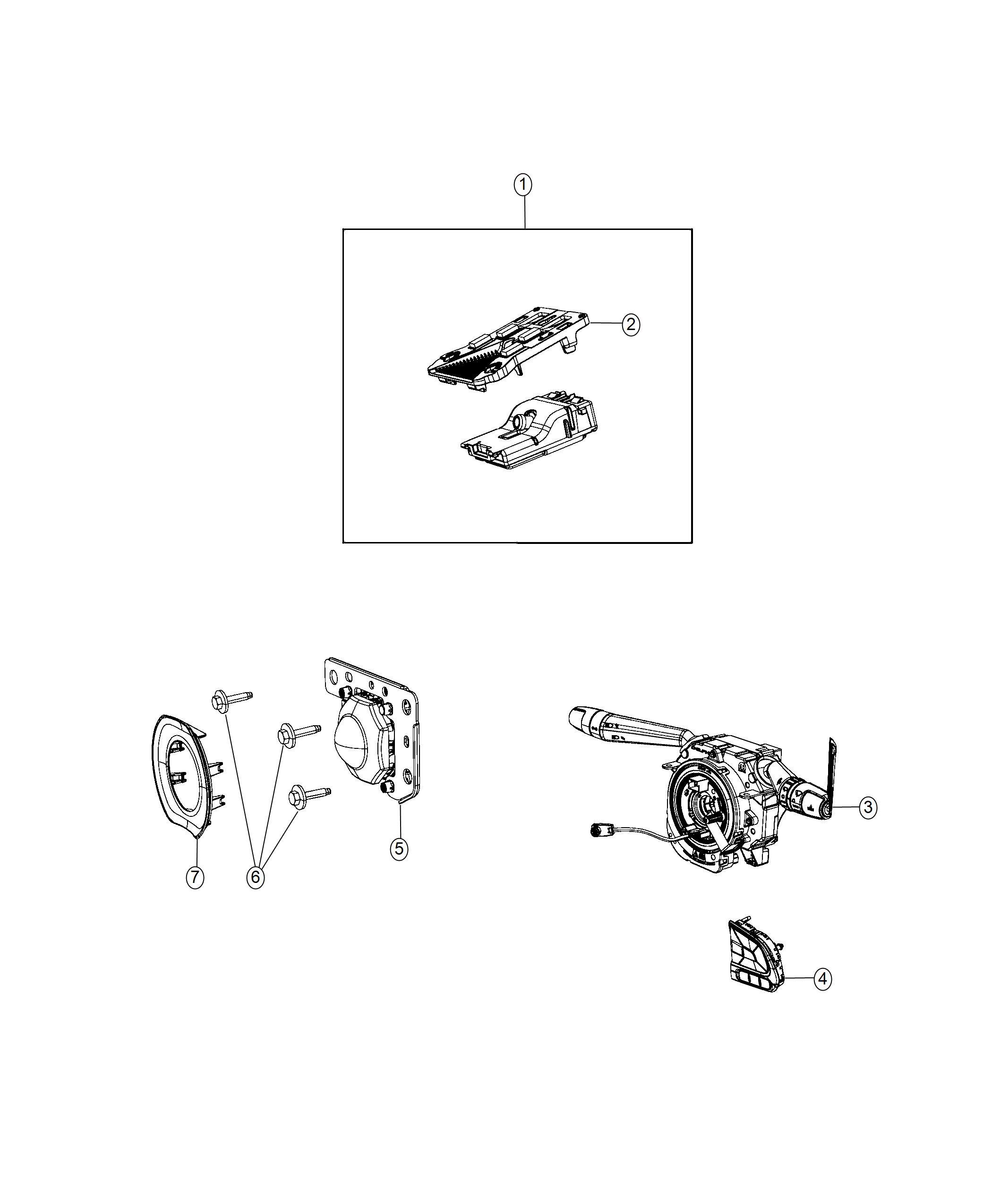 jeep compass clockspring  steering column control module