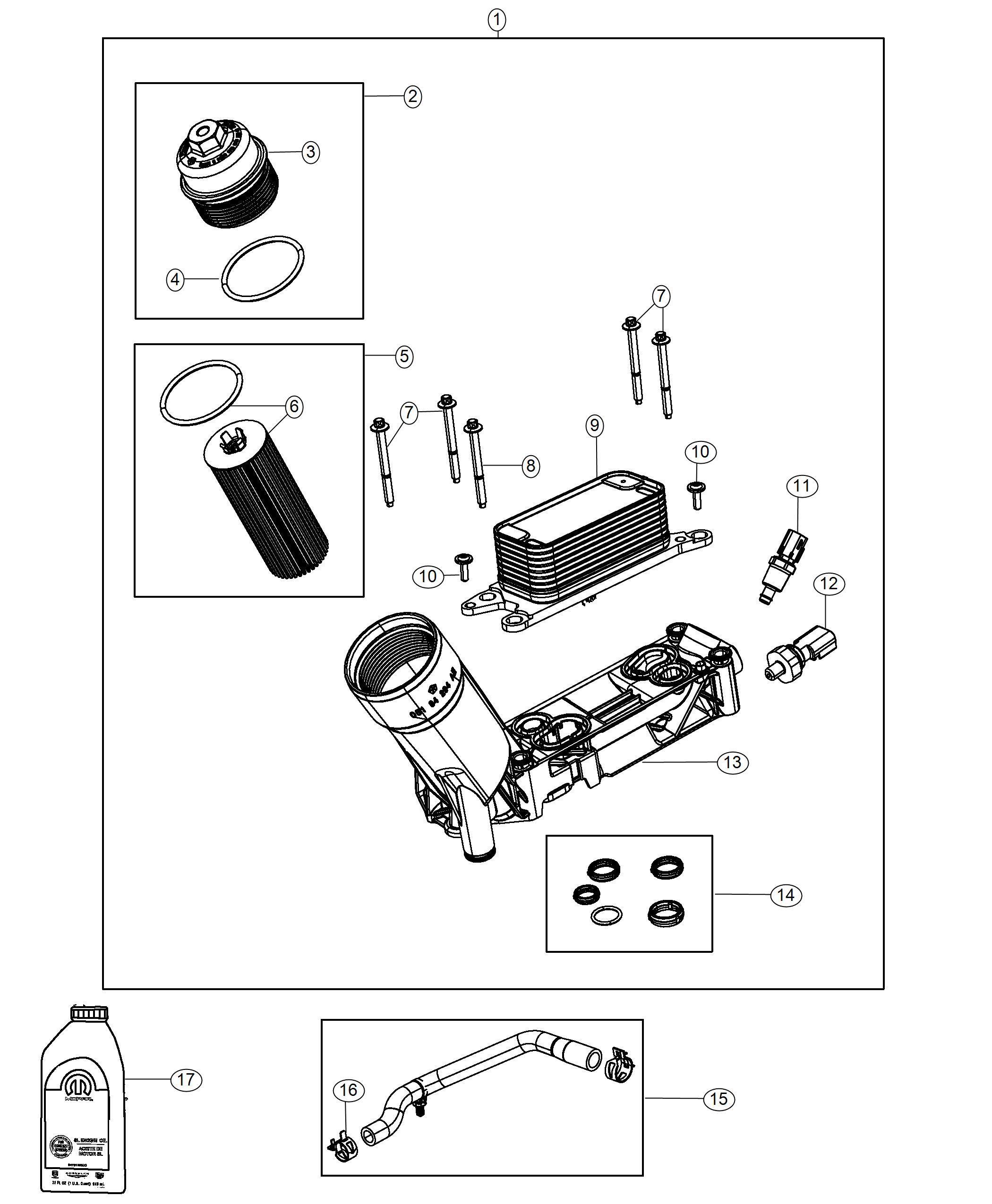 Dodge Challenger Sensor. Oil Pressure. [engine Oil Cooler