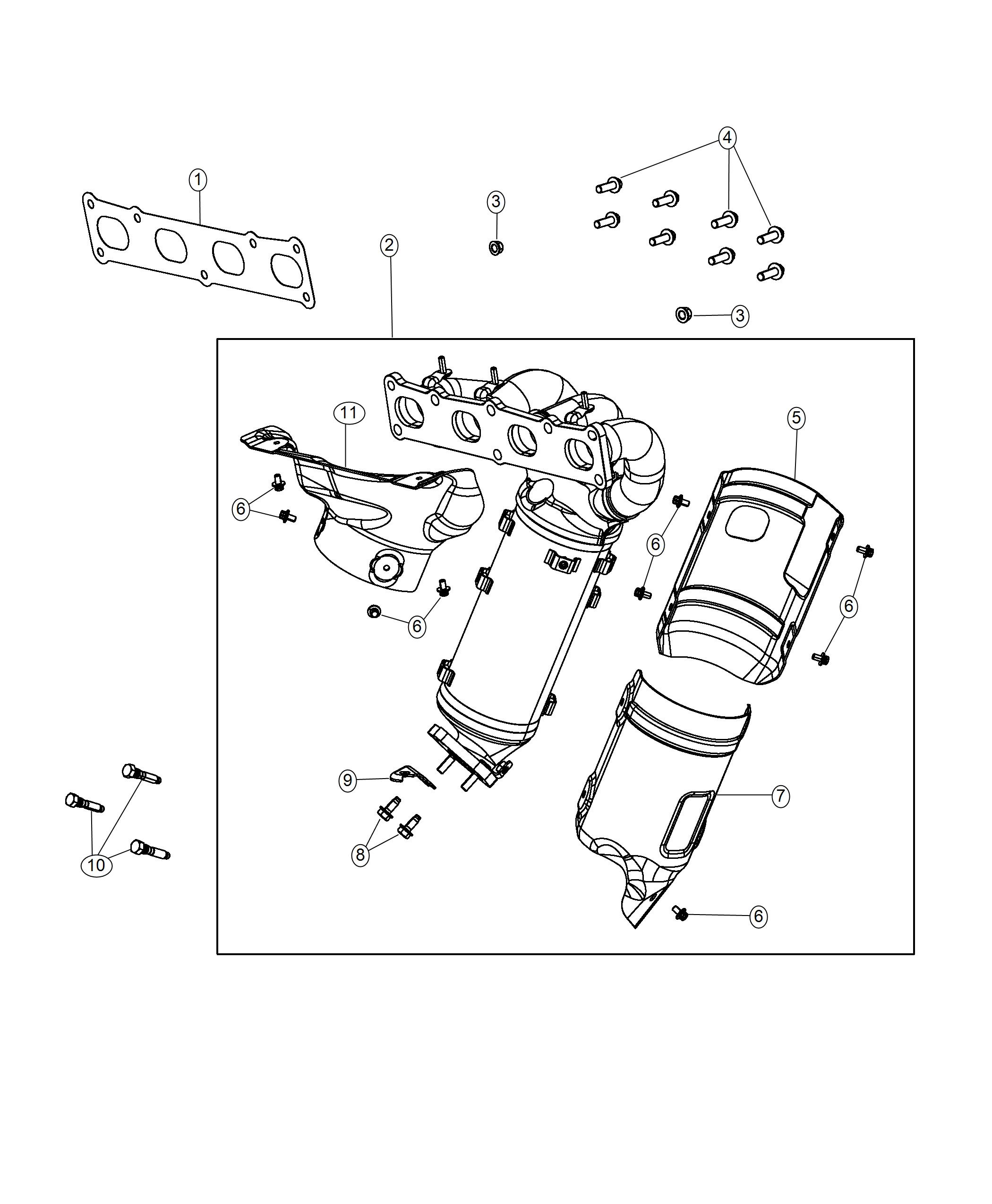 Jeep Compass Shield  Exhaust  Catalytic Converter  Front