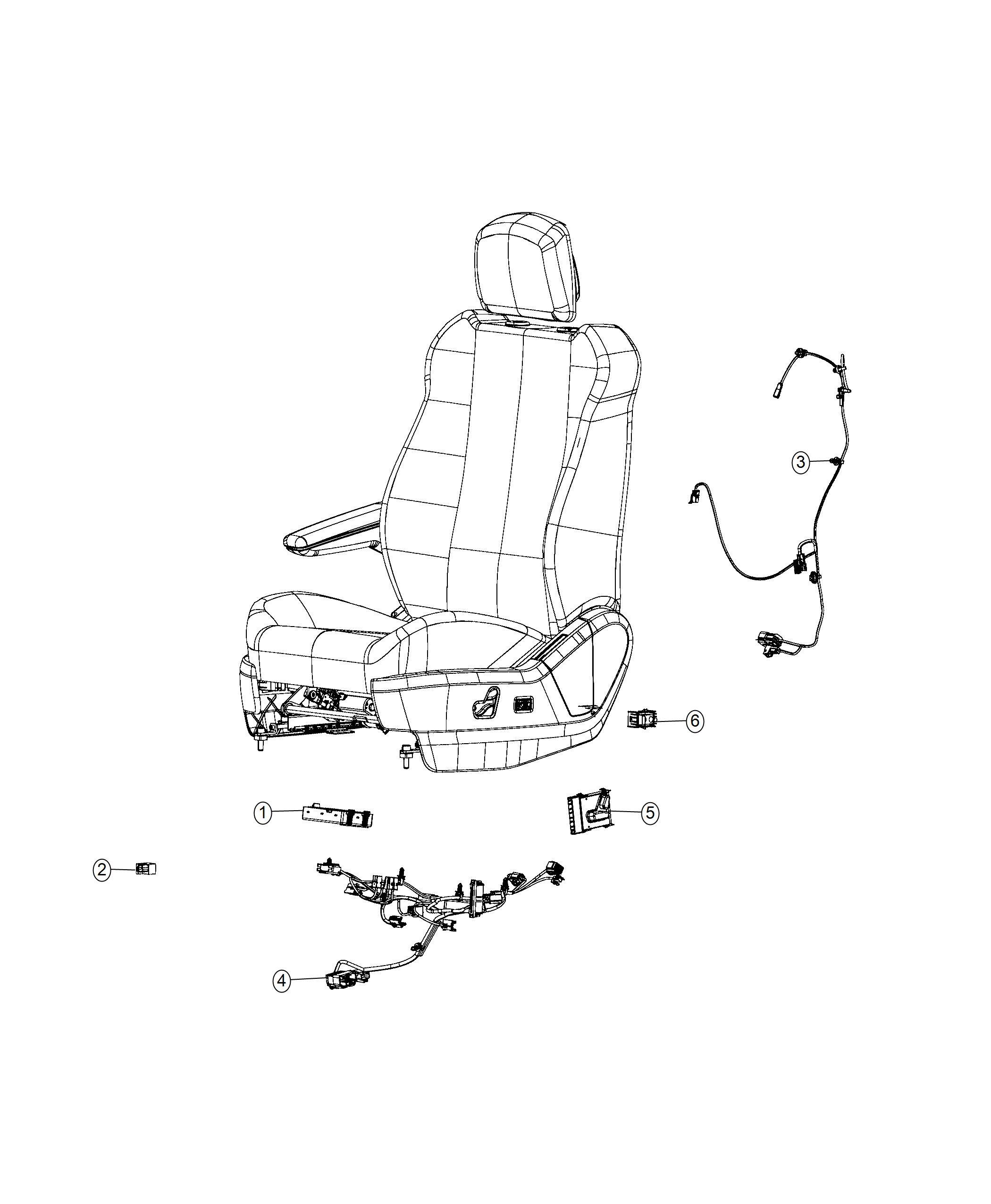 Ram C  V Tradesman Wiring  Jumper  Power Seat  Seat  Seat
