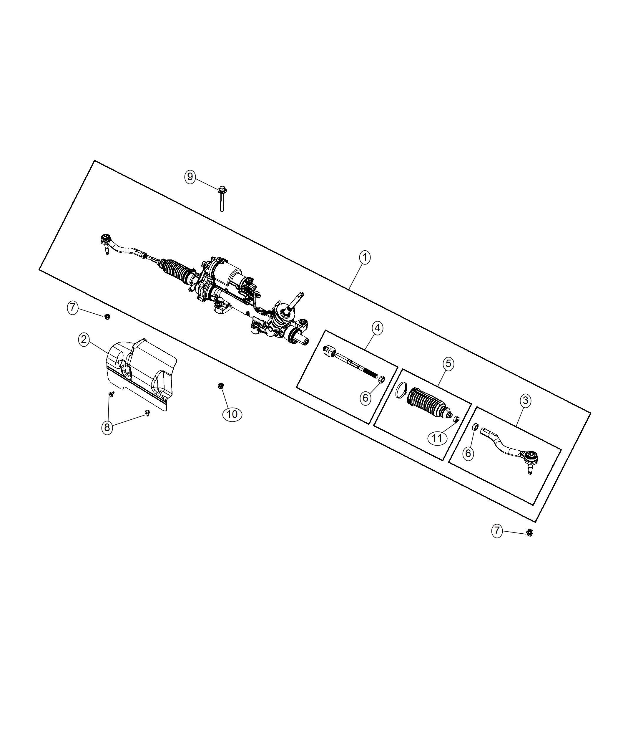 chrysler pacifica shield  heat   steering gear module