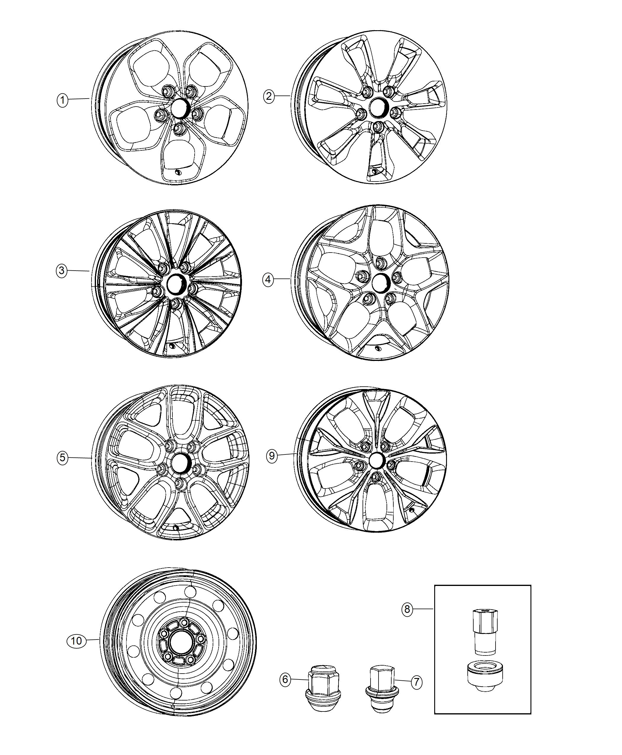 2019 Chrysler Pacifica Wheel. Aluminum. Front Or Rear. [20
