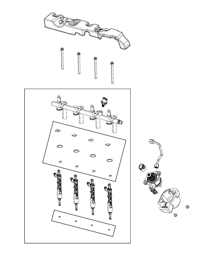 Jeep Wrangler Seal kit. Fuel injector - 68441602AA ...