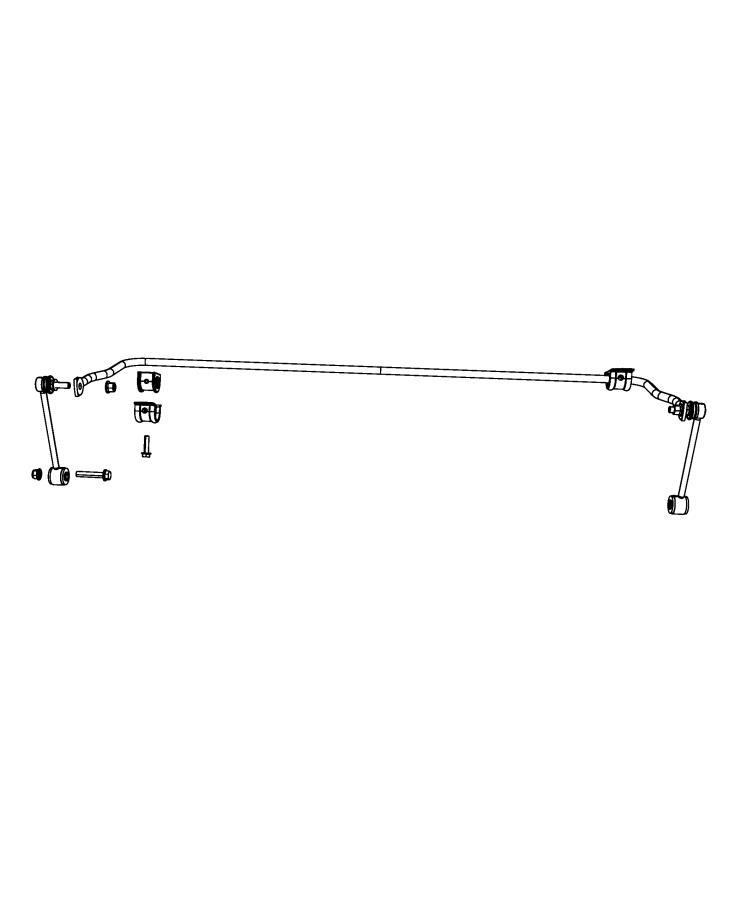 Jeep Wrangler Stabilizer bar. Rear suspension. [rear ...