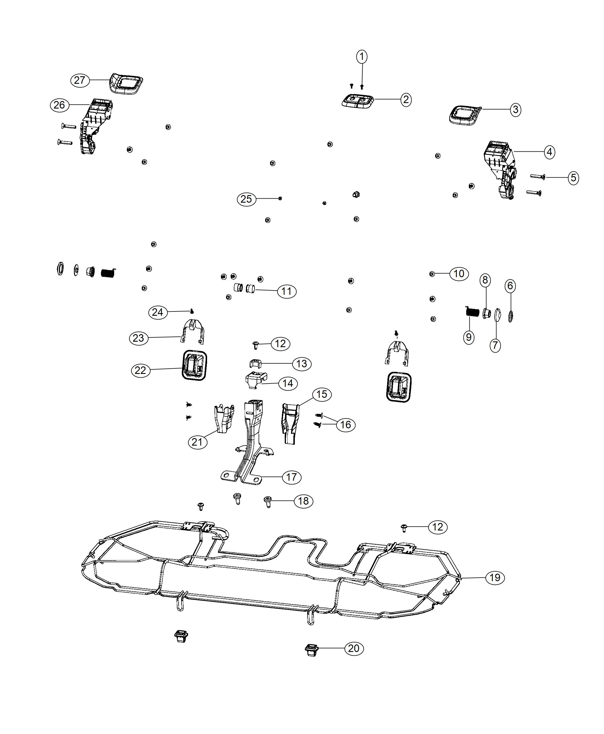 Jeep Compass Cover  Seat Anchor   No Description Available