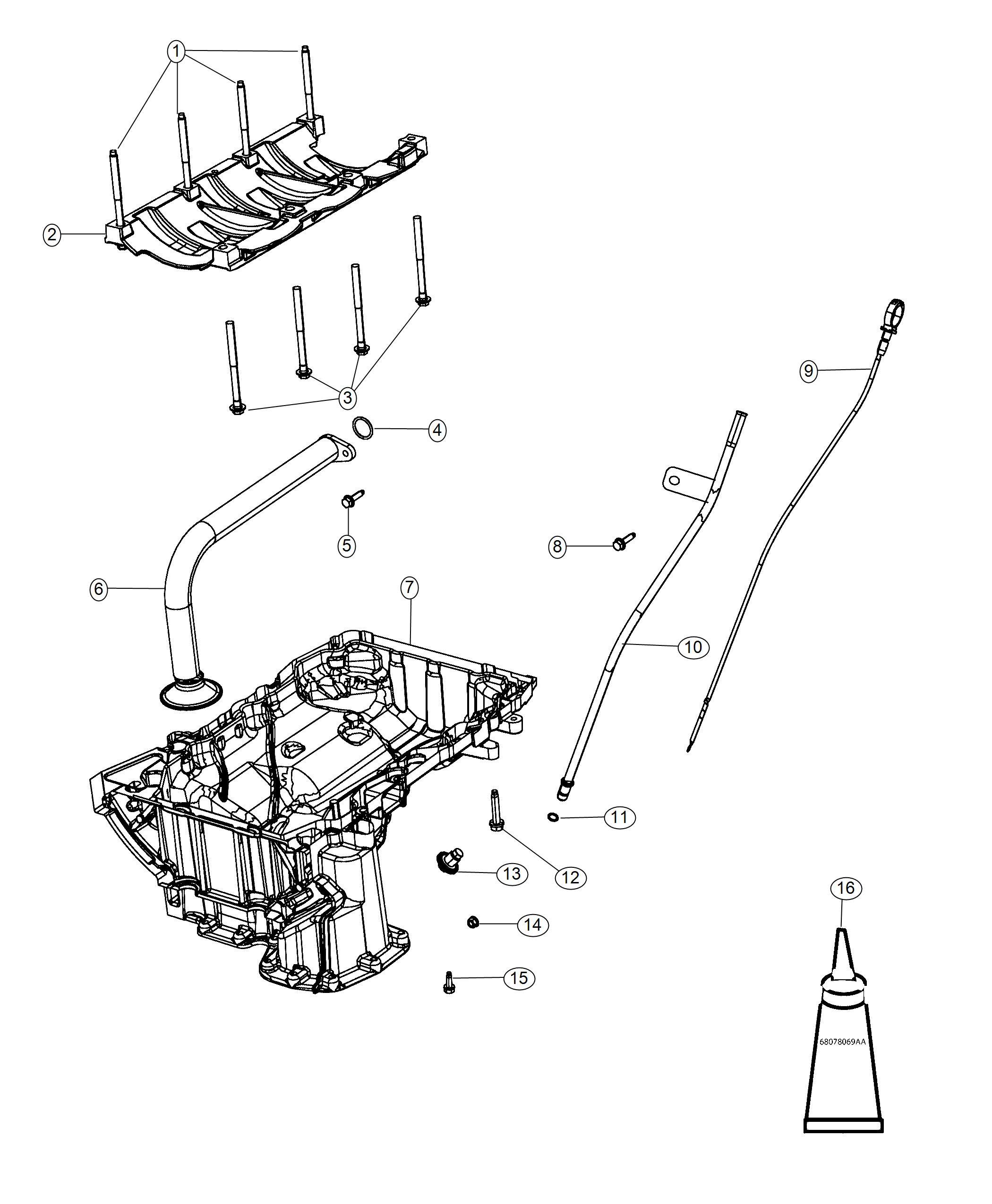 ram 1500 tube  engine oil indicator