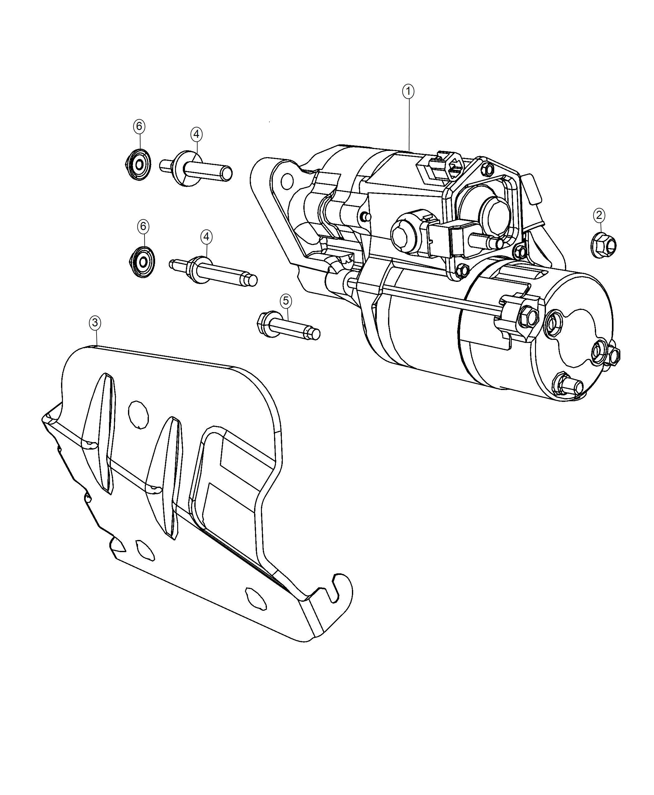 2019 Dodge Durango Starter  Engine