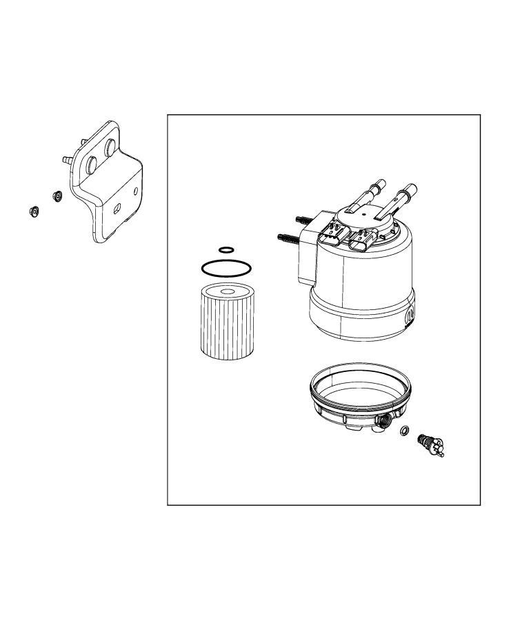 Ram 3500 Valve  Water Separator Drain  Fuel  Filter  Fca