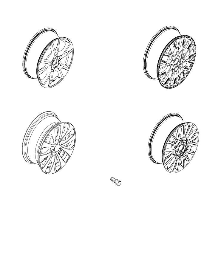 Fiat 500x Wheel  Aluminum  Trim    O0  Color   No