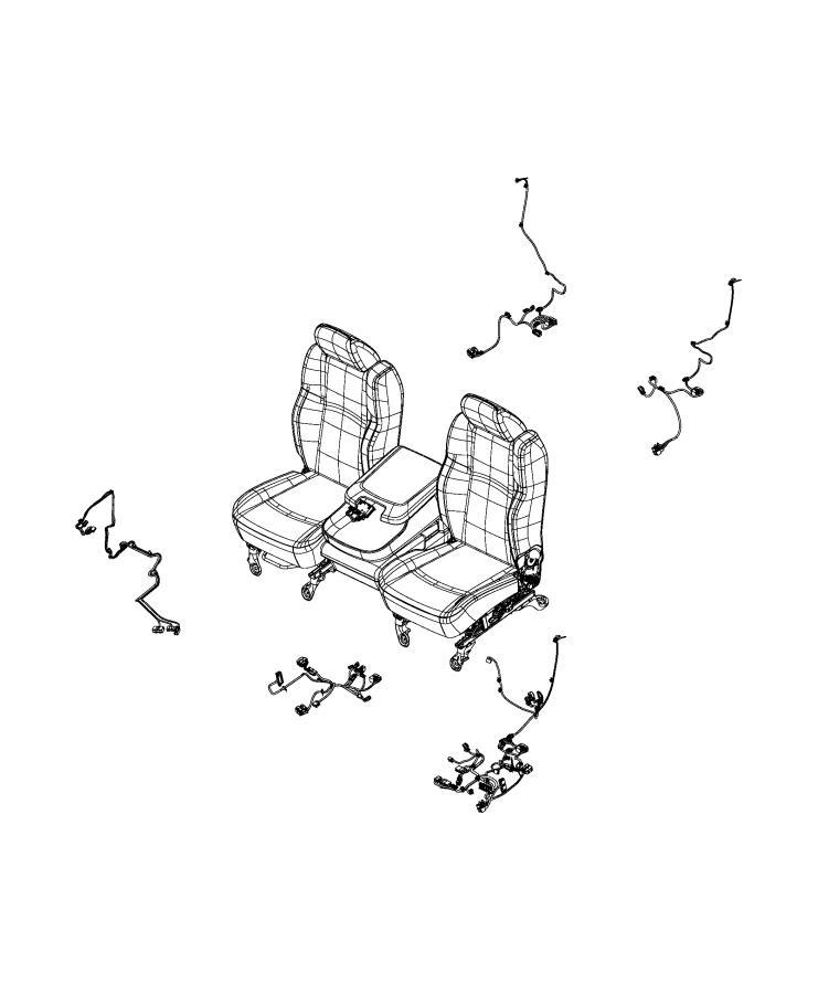 Ram 1500 Wiring  Console  Seat   Seat Parts Module    40  20  40 Split Bench Seat