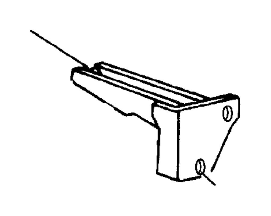 1994 jeep grand cherokee bracket  rear bumper  right