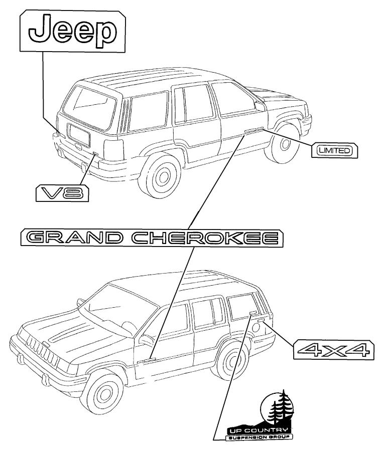 1999 Jeep Cherokee Window Ledningsdiagram