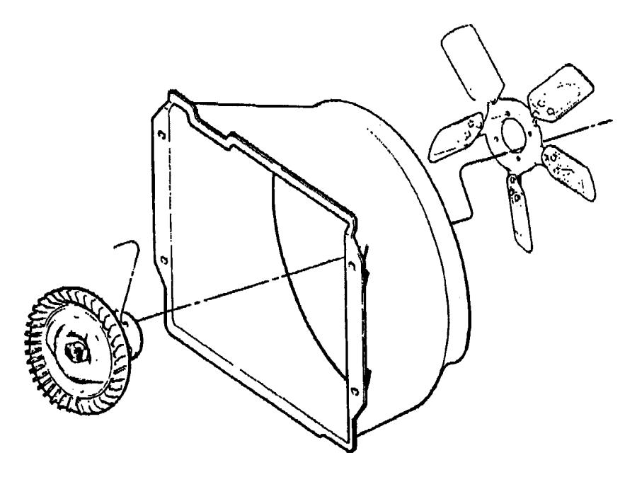 2001 jeep wrangler shroud  fan