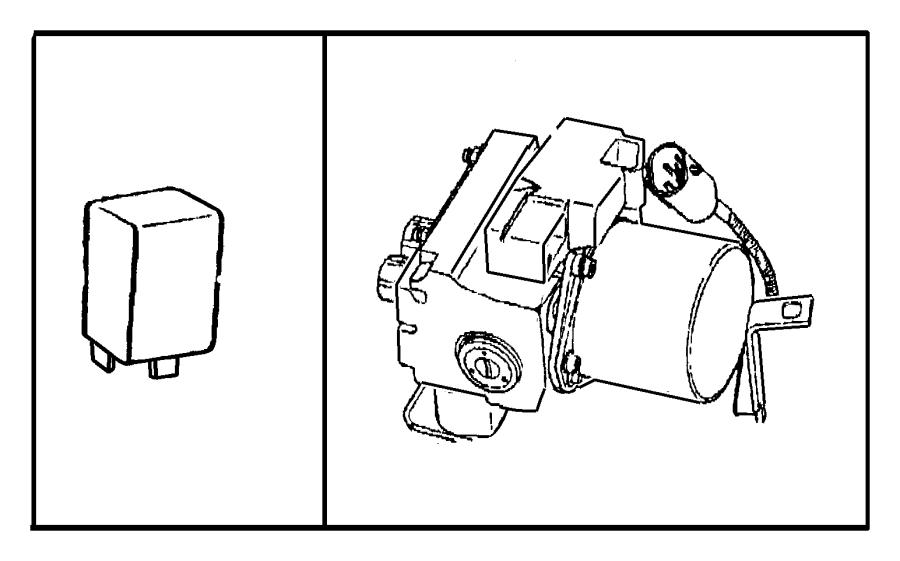 2000 dodge caravan relay  mini  a  c  a  c clutch  abs