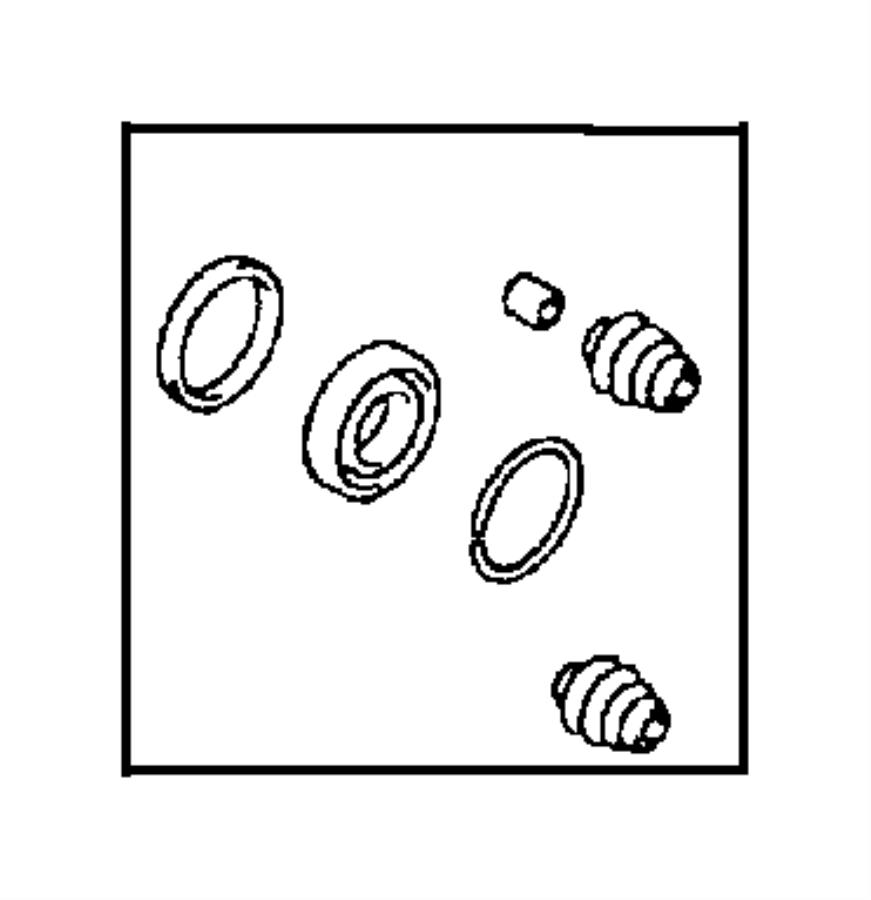 1999 chrysler sebring bushing  caliper  sebring  sebring