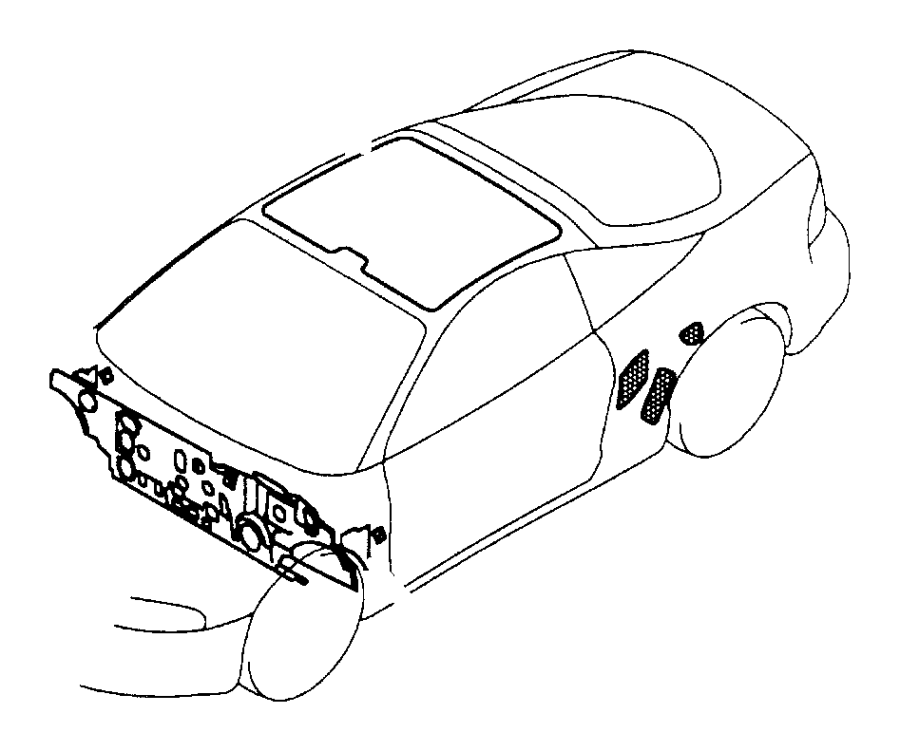 chrysler sebring pad  dash panel  silencers  rest