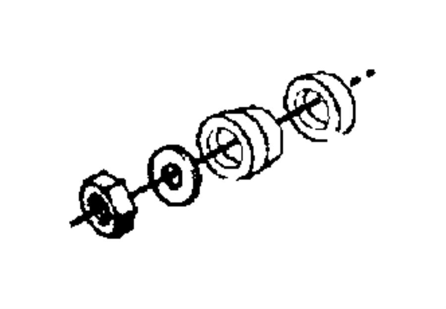 1999 chrysler concorde bushing  lower control arm  rear