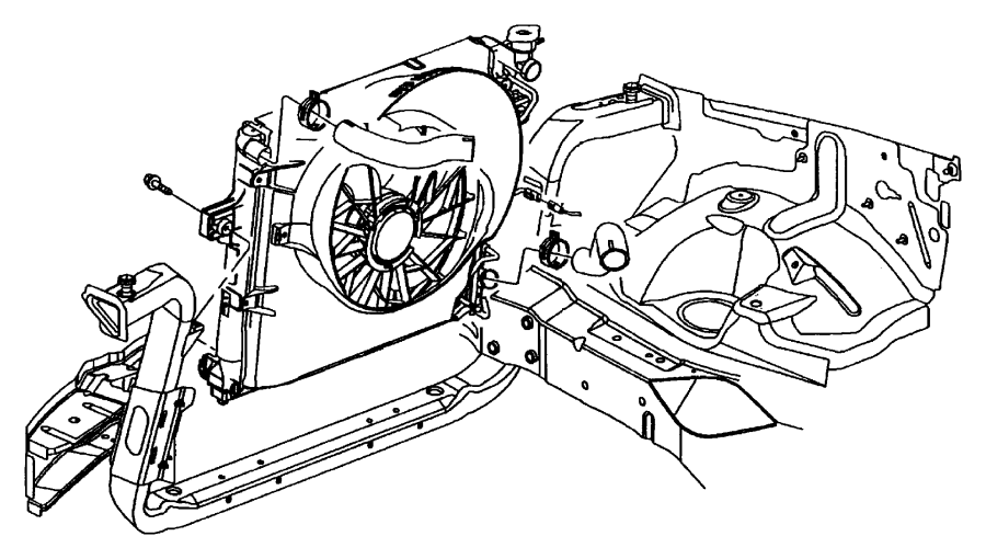 2015 dodge durango cap  radiator  export  ltr