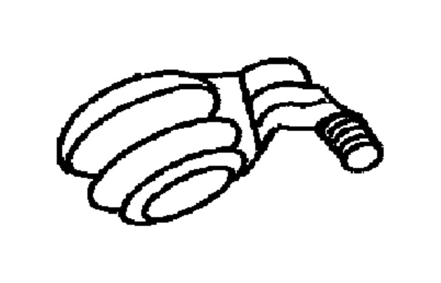 1998 dodge grand caravan adapter  connector  oil filter  3