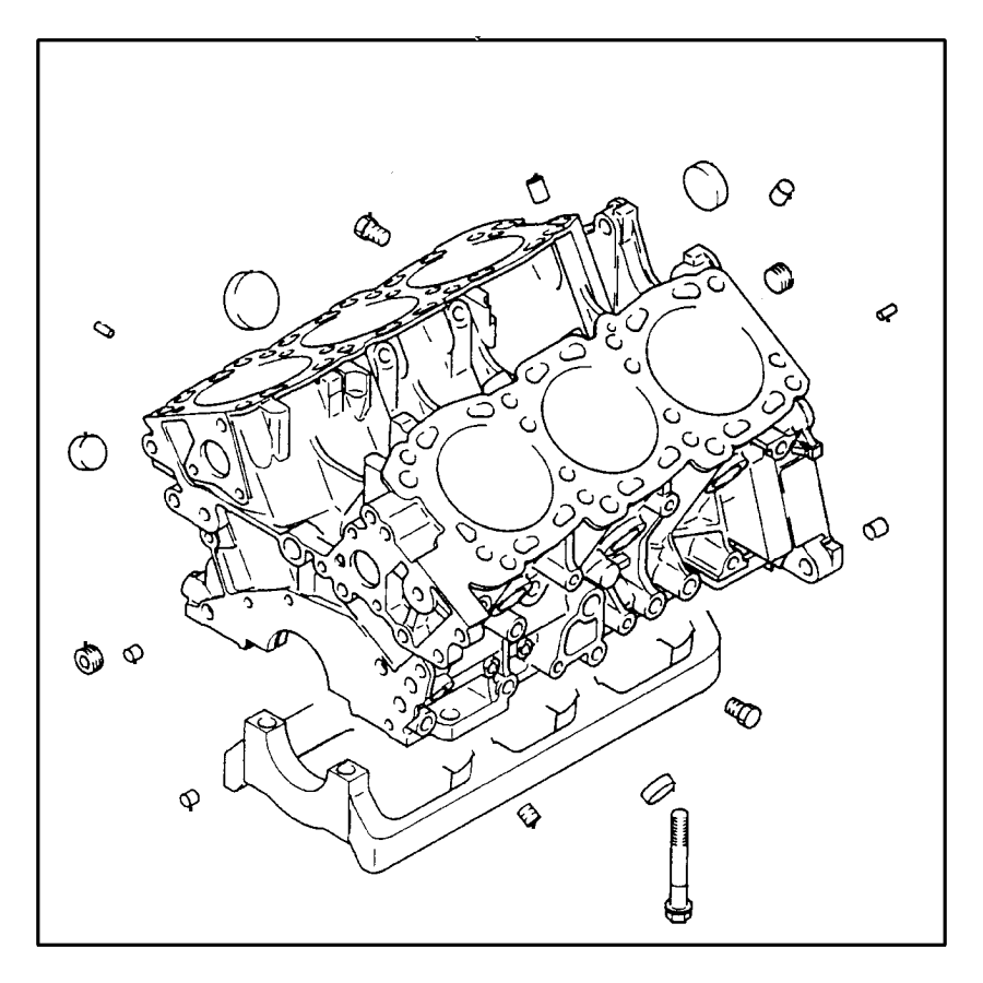1988 dodge bushing  cylinder block   12x13   12x13