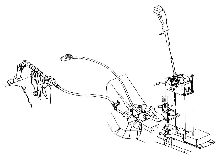 dodge caliber bracket  transmission control cable