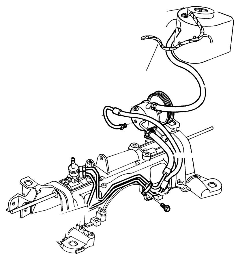 1997 chrysler town  u0026 country hose  power steering return