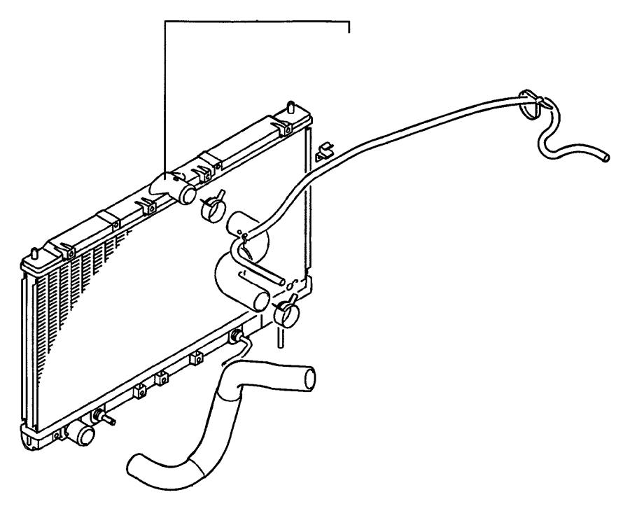 1997 chrysler sebring radiator  engine cooling  magneti