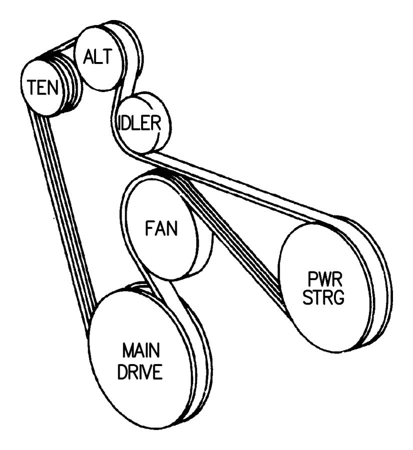 2001 dodge dakota belt  accessory drive  serpentine