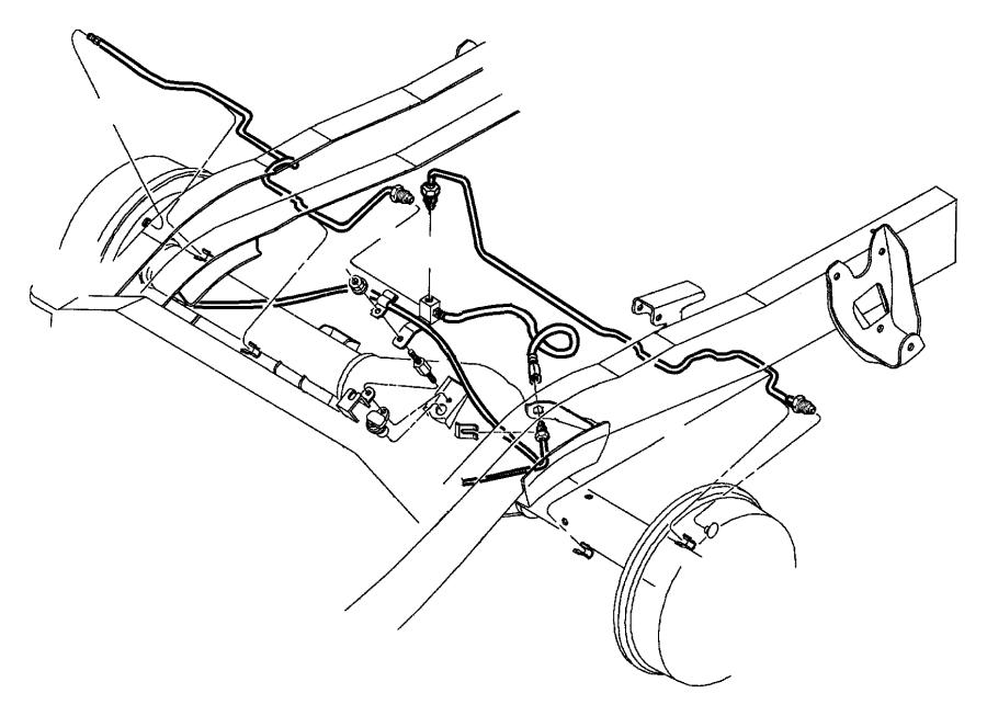 2000 dodge durango hose  brake  hoses  maintenance  lines