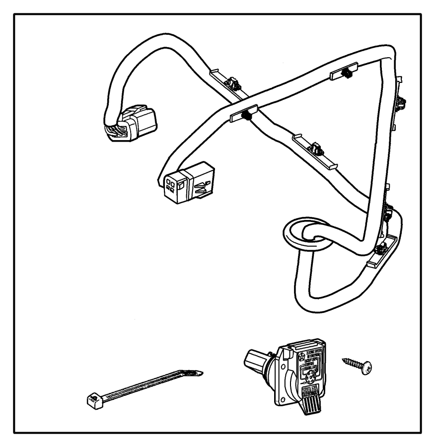 chrysler 200 trailer tow wiring harness  wiring package