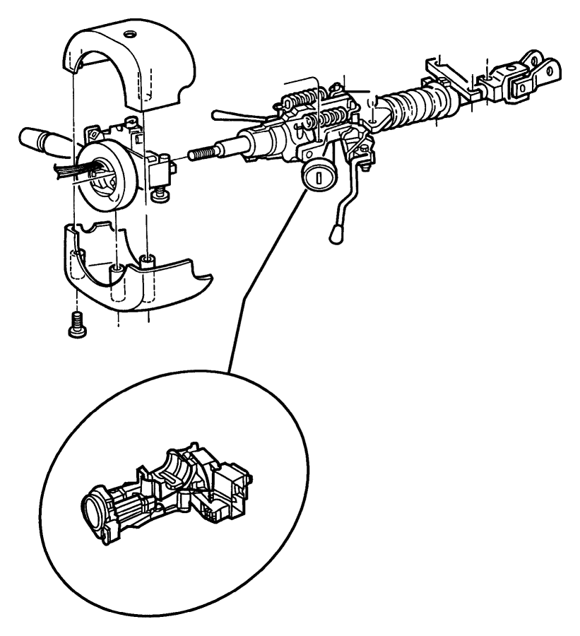 dodge challenger steering column diagram