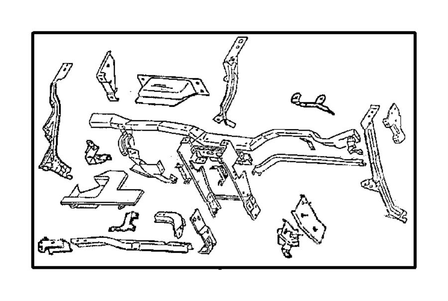 1999 Dodge Grand Caravan Strap  Glove Box   Jap  Trim   All Trim Codes   Panel  Instrument