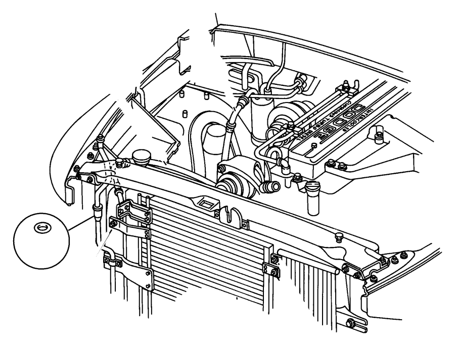 1998 dodge ram 3500 condenser  air conditioning  plumbing