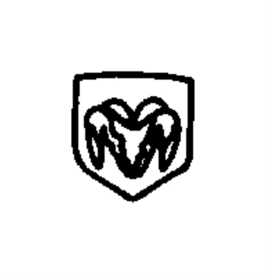 1999 jeep wrangler nameplate  medallion  ram head  color