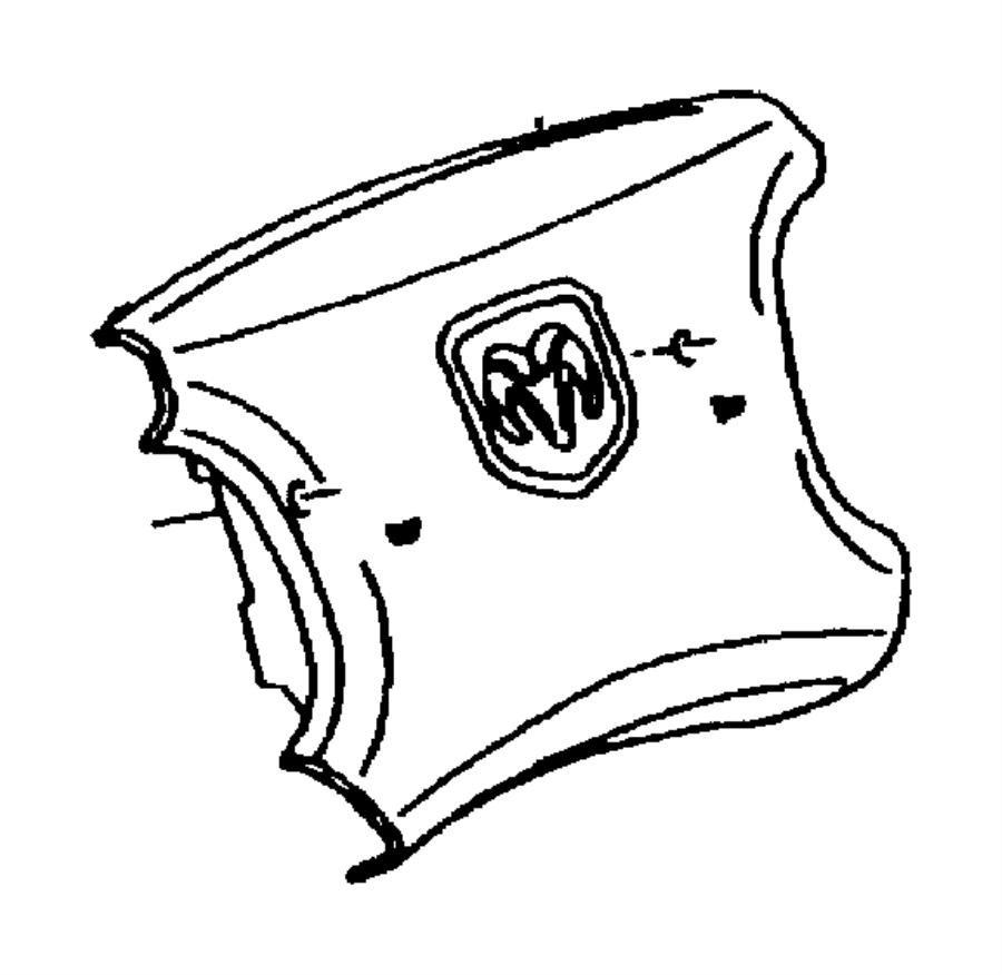 1998 chrysler sebring cover  air bag module  trim   all