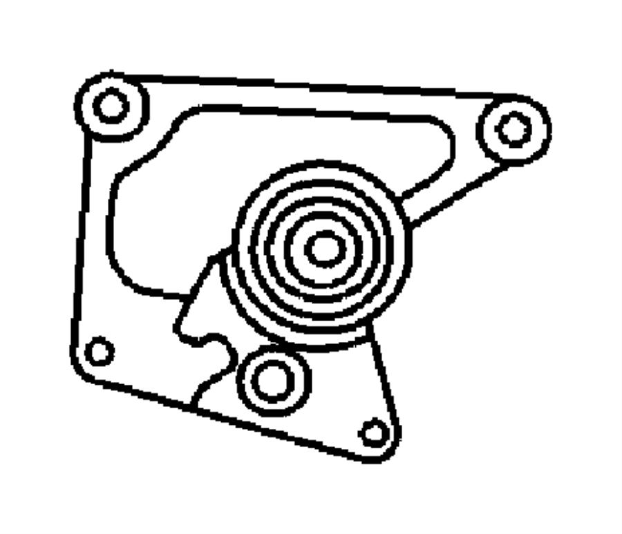 2001 dodge neon bracket  tensioner  cover  belt  timing