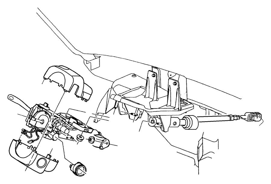 2003 Jeep Wrangler Trim Ring  Ignition Key Cylinder  Column  Steering  Tilt