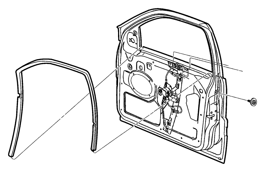 2013 dodge journey seal  front door glass  left  run channel  wiring  body  air